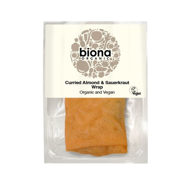 Organic Curried Almond & Sauerkraut Wrap 150g