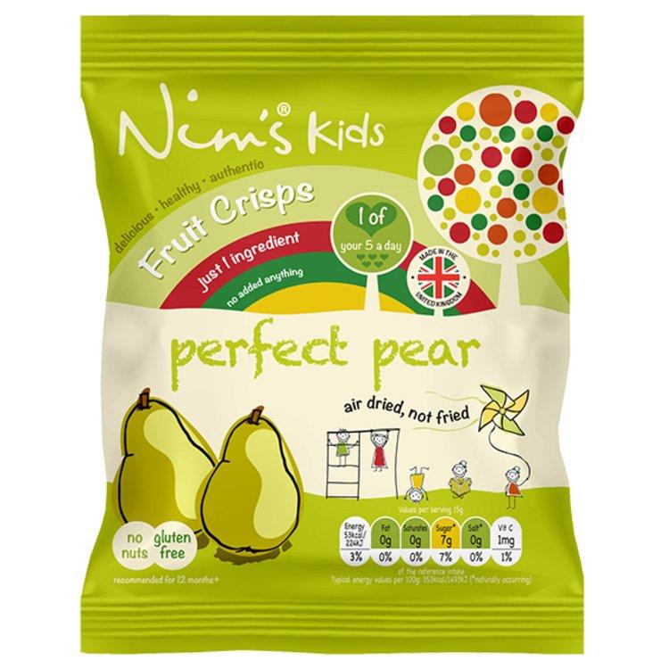 15 x Kids Air-Dried Pear Fruit Crisps by Nim's 15g