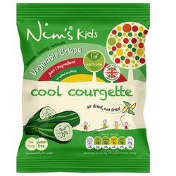 15 x Kids Air-Dried Courgette Vegetable Crisps by Nim's 12g
