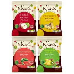 12 x Air-Dried Sweet Fruit Crisps Box by Nim's (Inc. Apple, Pineapple & Pear)