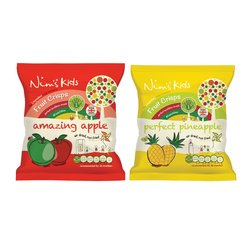 28 Bags - Kids Air-Dried Sweet Fruit Crisps Bags by Nim's
