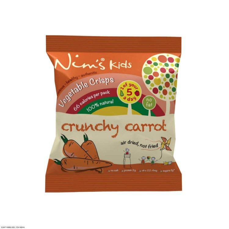 15 x Kids Air-Dried Carrot Vegetable Crisps by Nim's 10g