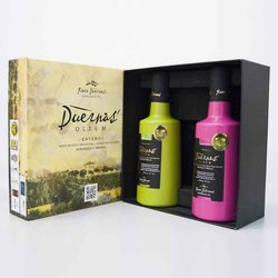 Extra Virgin Olive Oil Gift Set by Finca Duernas 2 x 500ml (Arbequina & Picual Oils)
