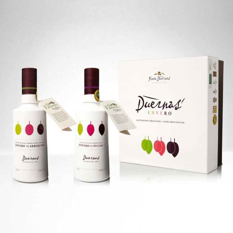 Extra Virgin Arbequina Olive Oil Gift Set 'Envero' (First Harvest) 2 x 500ml