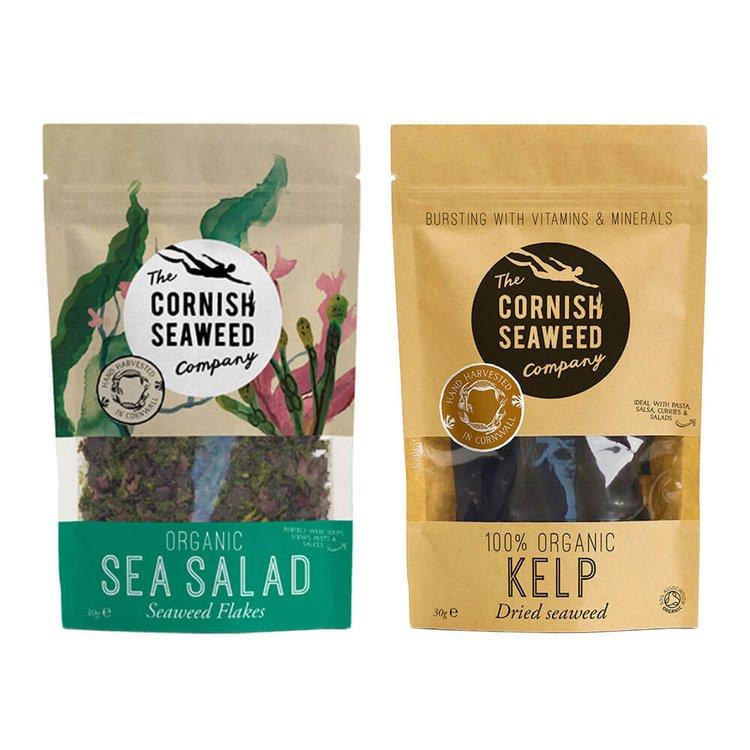 Organic Sea Salad & Kelp (Kombu) Seaweed 2 x 30g