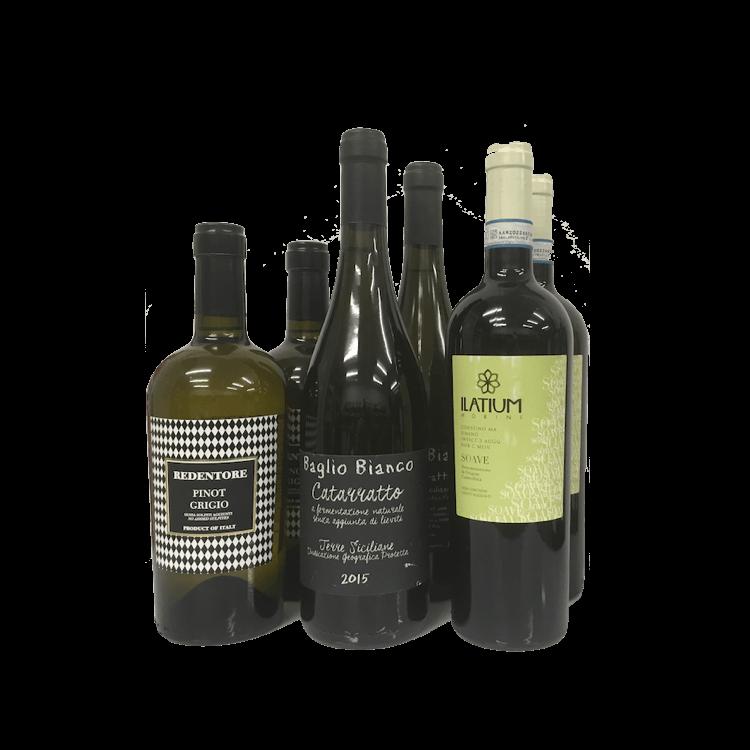 6 Bottle Case Natural White Italian Wines (Organic, Sulphite Free)