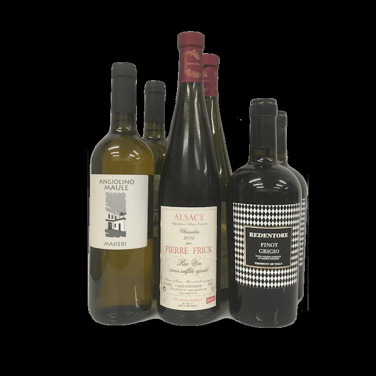 6 Bottle Case Organic White Wines Inc. Pinot Grigio (Sulphite Free)