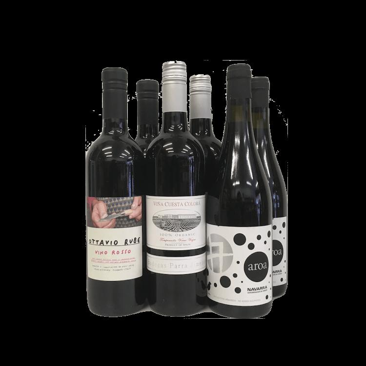 6 Bottle Case Sulphite Free Red Wines (Organic, Vegan)