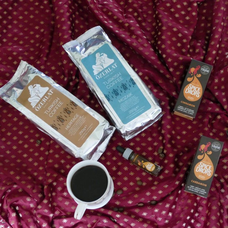 Premium Turkish Coffee & Spice Drops Gift Set (inc. Cinnamon & Cardamom Spice Drops)