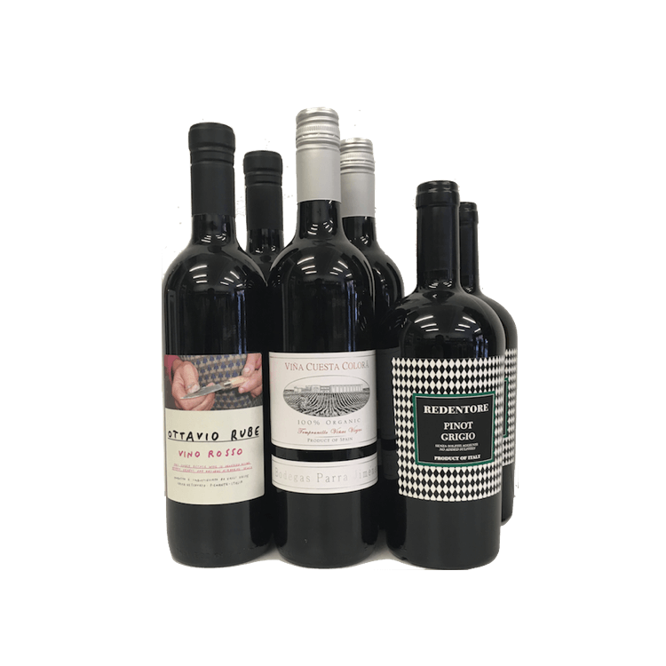 6 Bottle Mixed Case Sulphite Free Wines (Organic, Vegan)