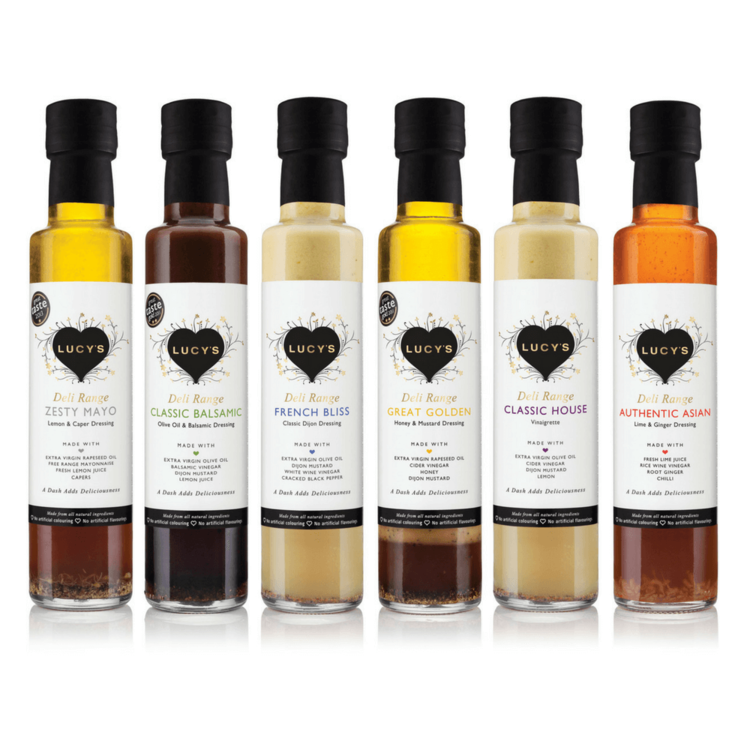 Deli Range Dressings Collection by Lucy's 6 x 250ml Inc. Balsamic, Asian and French