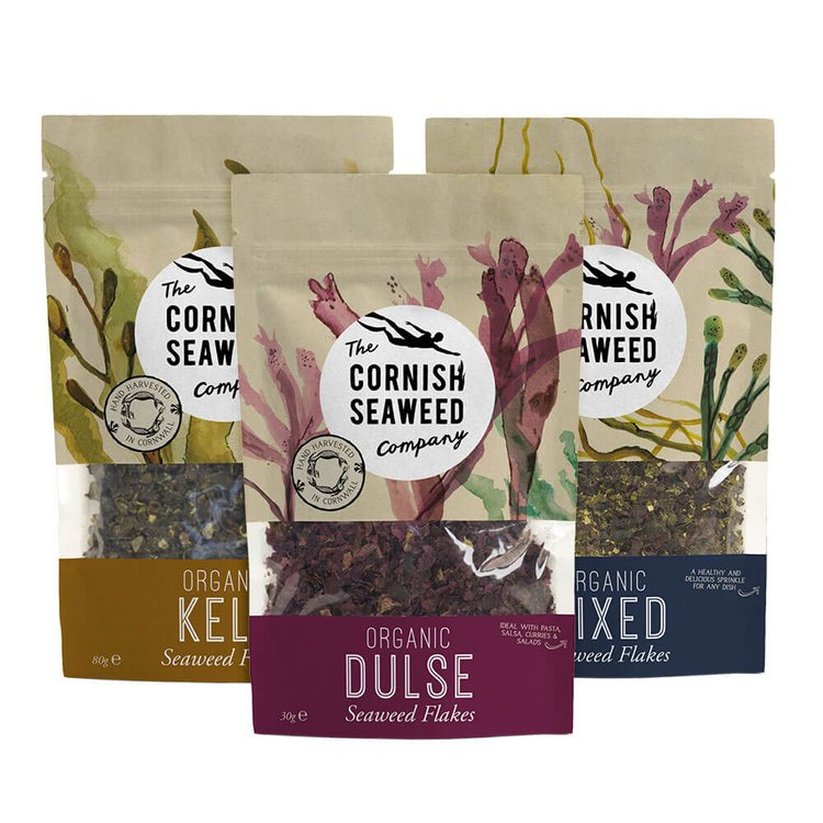 Organic Seaweed Flakes Set Mix & Match x 3