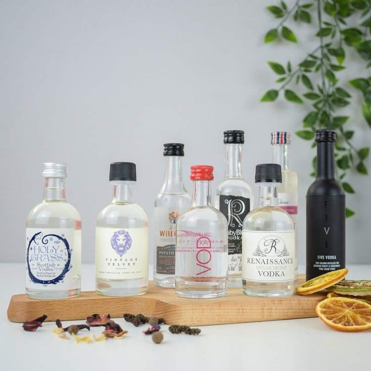 British Small Batch Vodka Tasting Set Inc. 8 x Craft & Artisan Vodkas