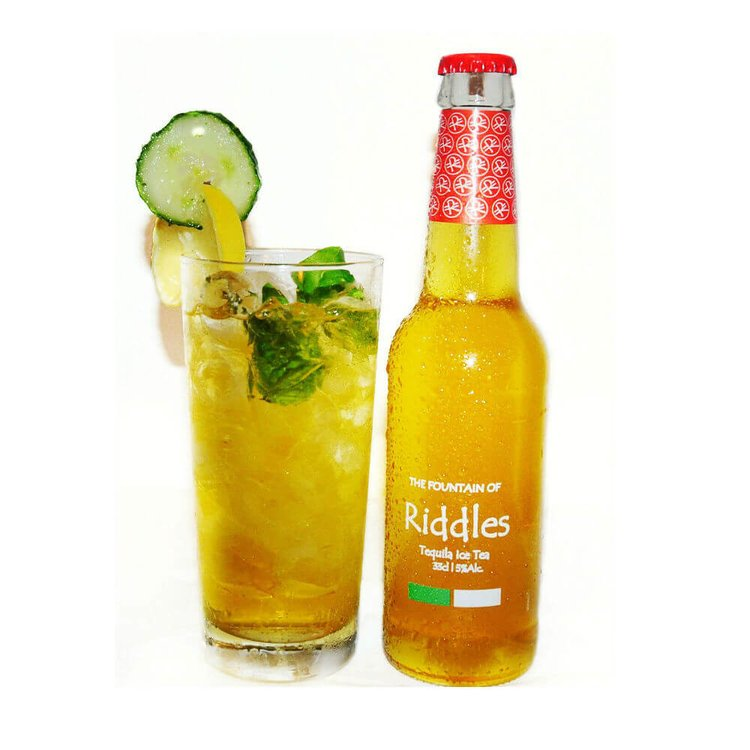 6 x Riddles Tequila Ice Tea with Moringa & Agave 330ml 5% Vol.