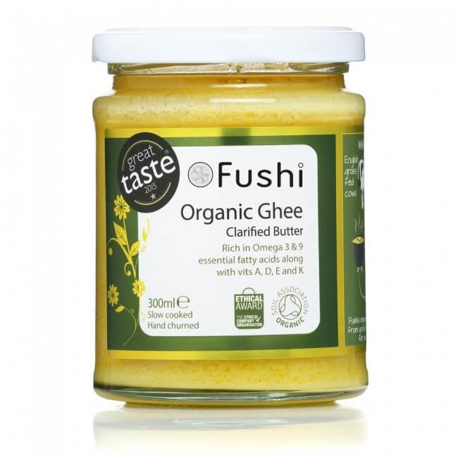 Organic Ghee - Clarified Butter 300ml by Fushi (Grass Fed)