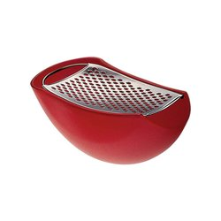 Alessi 'Parmenide' Cheese Grater with Bowl (Red)