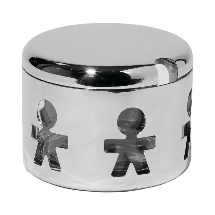 Alessi Parmesan Cheese Container 'Girotondo' (Stainless Steel Storage Box)