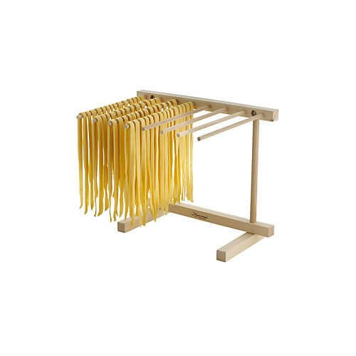 Wooden Pasta Drying Rack (Collapsible Stand for Drying Fresh Pasta)