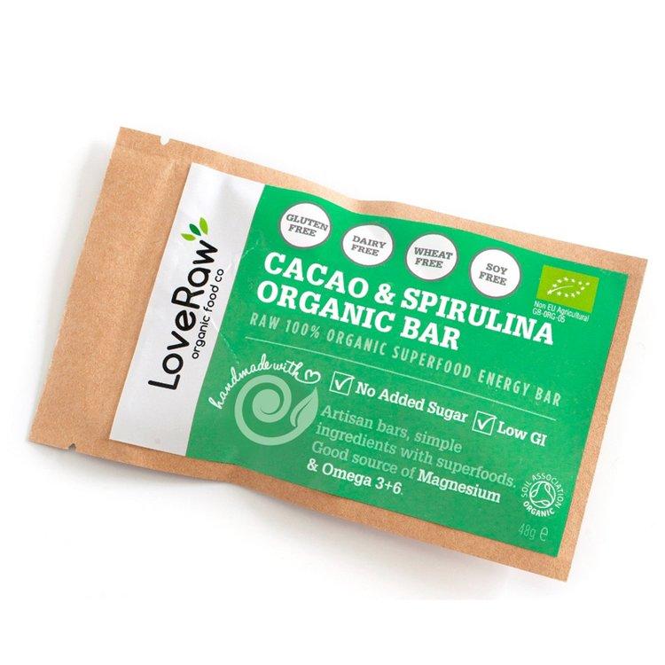 Organic Cacao & Spirulina Bar 48g
