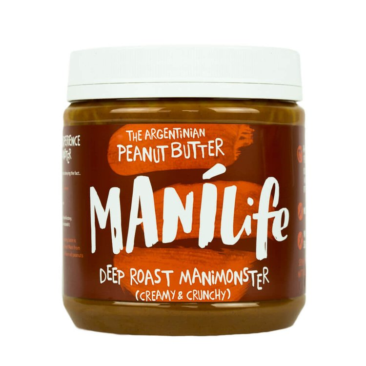ManíLife Deep Roast Peanut Butter 1kg (Argentinian Hi-oleic, Creamy & Crunchy)