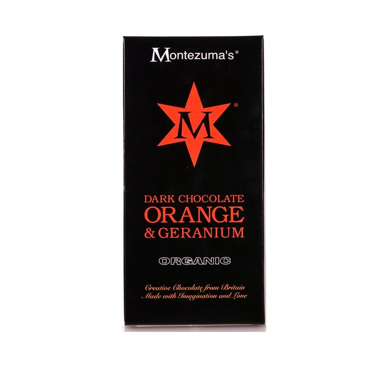 Organic Dark Chocolate with Orange & Geranium Bar 100g