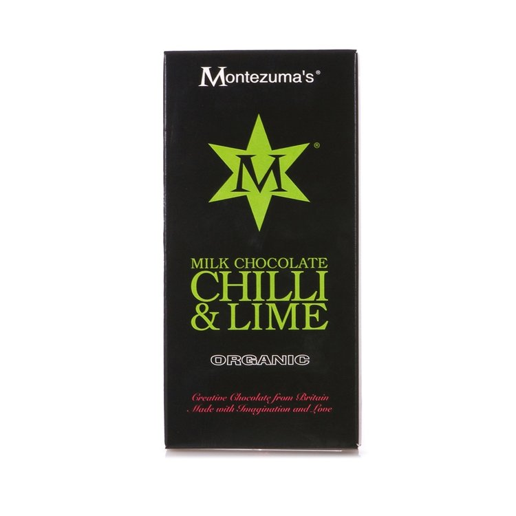 Organic Lime & Chilli Milk Chocolate Bar 100g