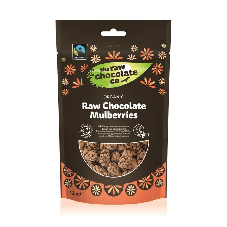 Organic Raw Chocolate Covered Mulberries 125g