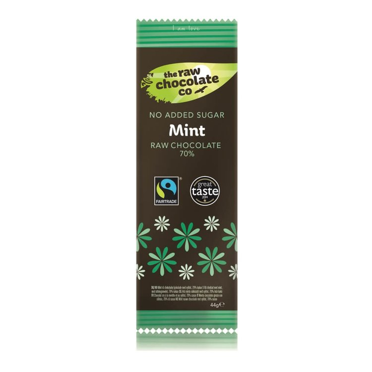 Mint Raw Chocolate with Xylitol 44g