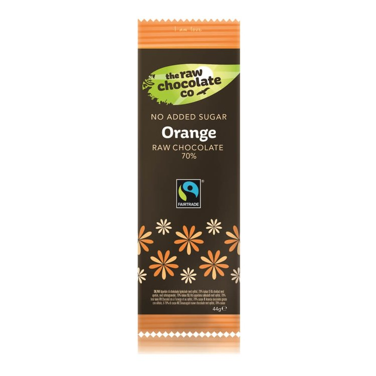 Orange Raw Chocolate Bar with Xylitol 44g