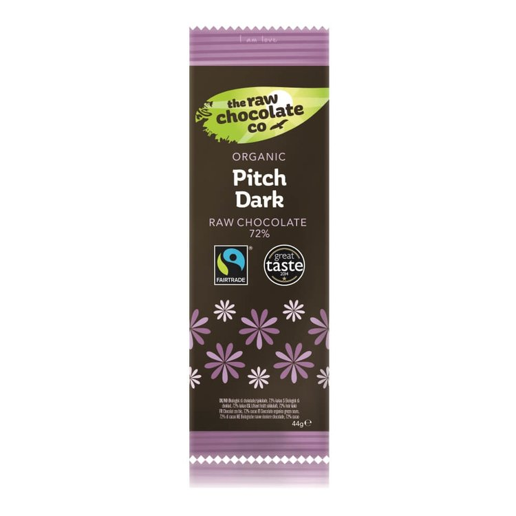 Organic Pitch Dark 72% Raw Chocolate Bar 44g