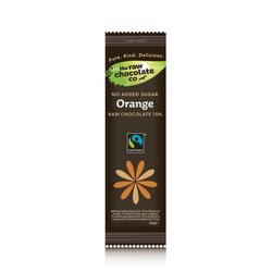 Orange Raw Chocolate with Xylitol Bar 22g