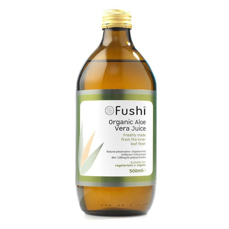 Organic Aloe Vera Juice 500ml by Fushi (Cold Pressed, Unfiltered)