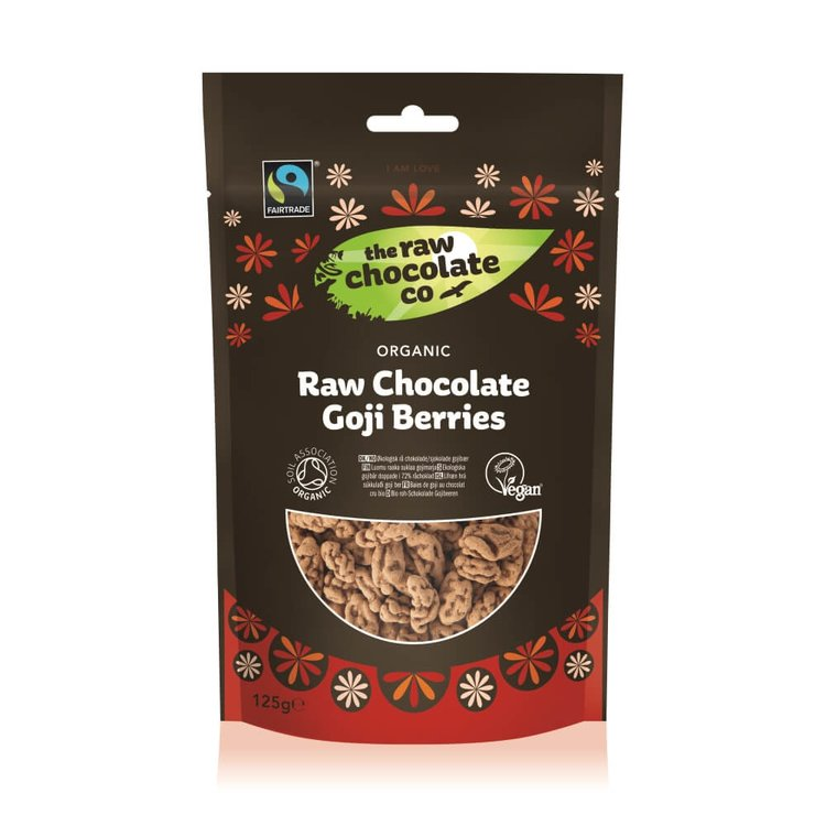 Organic Raw Chocolate Goji Berries 125g