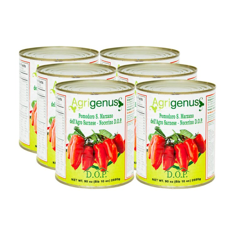 6 x San Marzano Tinned Plum Tomatoes PDO 2550g (Slow Food)