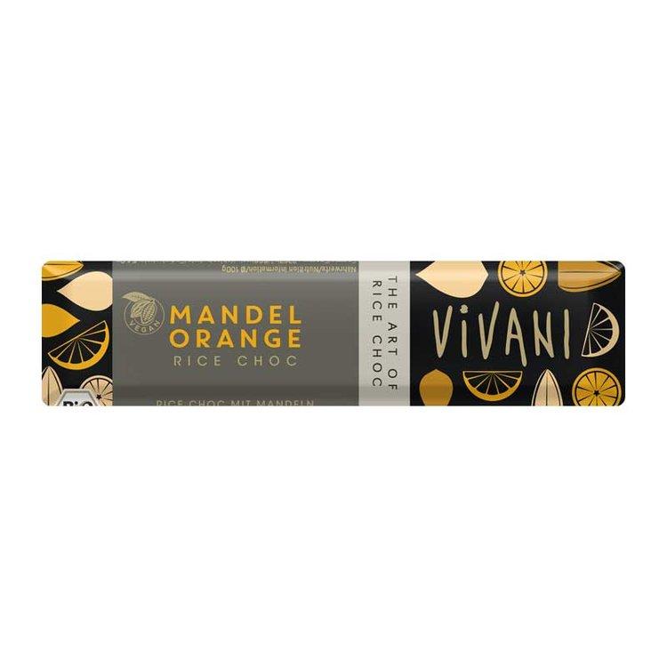Almond & Orange Rice Milk Chocolate Bar 35g