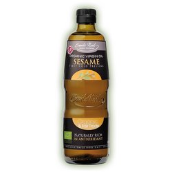 Organic Cold-Pressed Virgin Sesame Seed Oil 500ml by Emile Noel - France