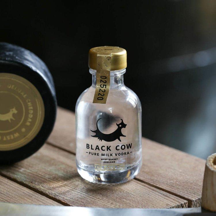 Pure Milk Vodka Miniature 40% ABV 5cl by Black Cow Vodka