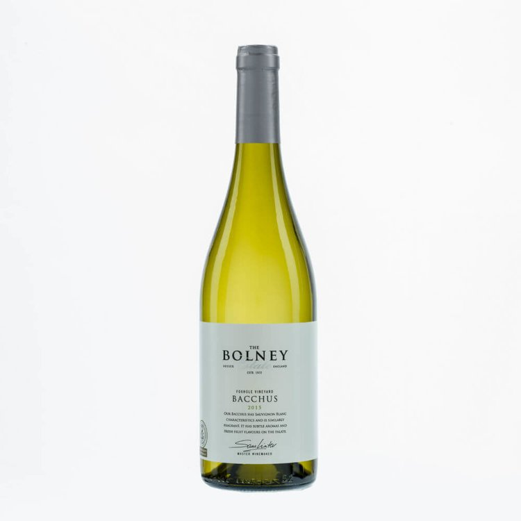 Bacchus White English Wine 2015 75cl by Bolney Estate 12% Vol.