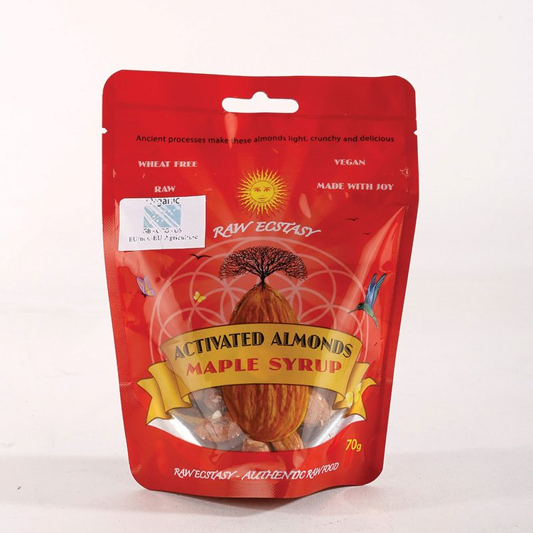 Organic Activated Almonds with Maple Syrup Glaze 70g