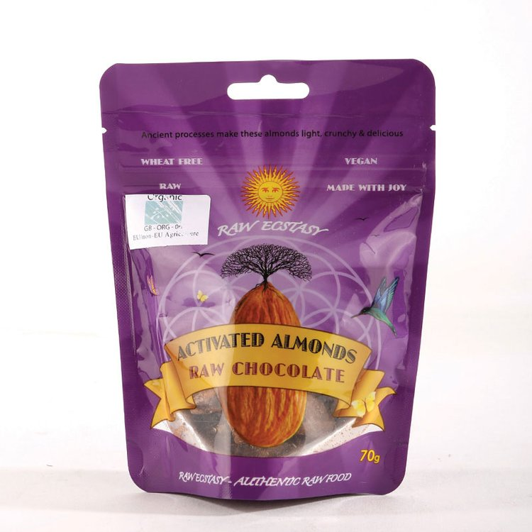 Organic Activated Almonds with Raw Chocolate 70g