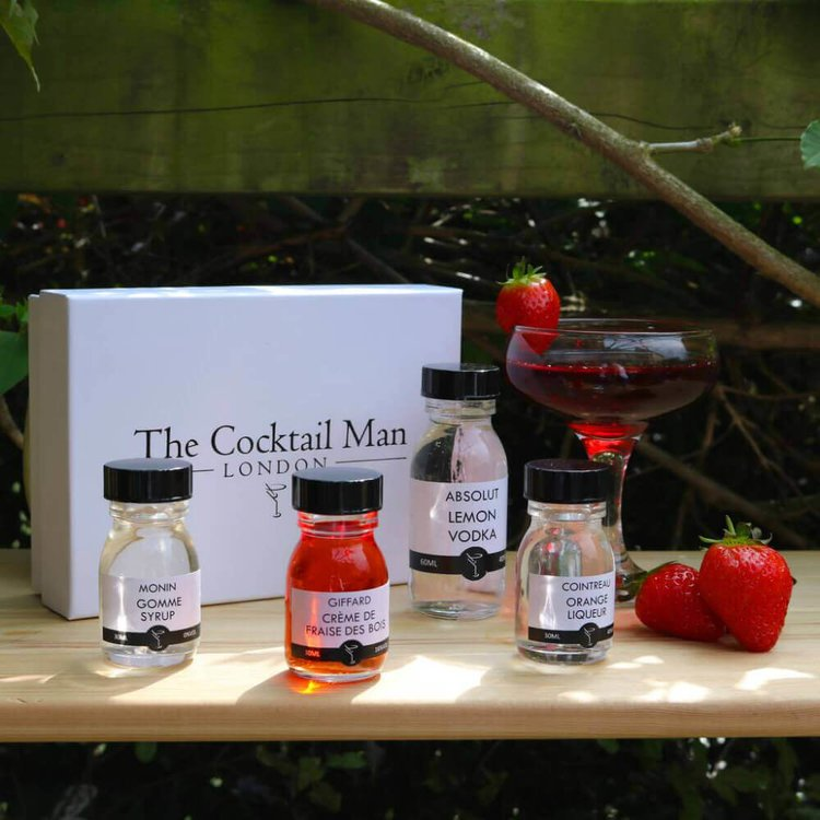 Strawberry Cosmopolitan Cocktail Kit Gift Box by The Cocktail Man