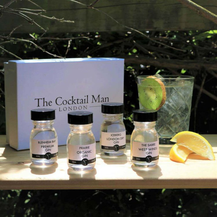 World Gin Tasting Gift Set Inc. 4 Gins by The Cocktail Man