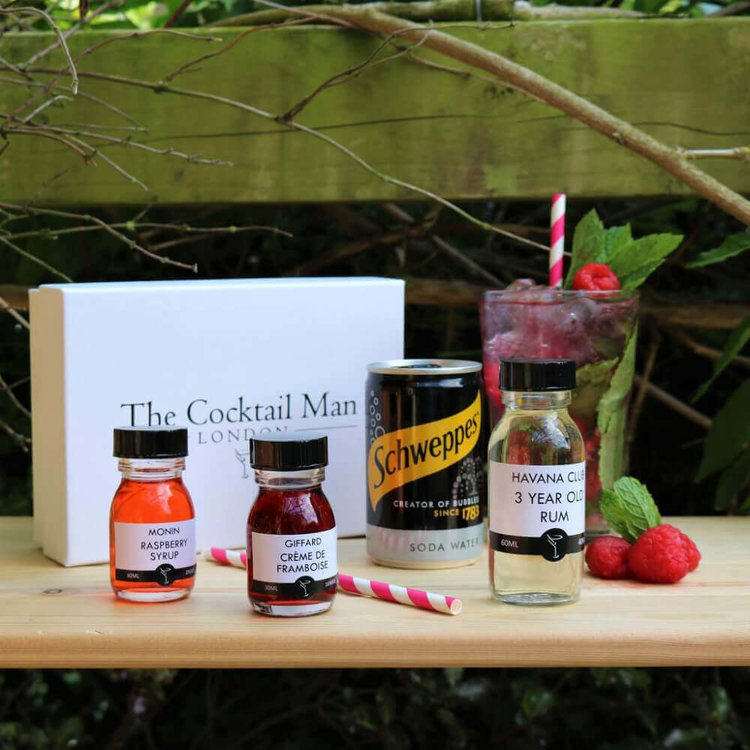 Raspberry Mojito Cocktail Kit Gift Box by The Cocktail Man