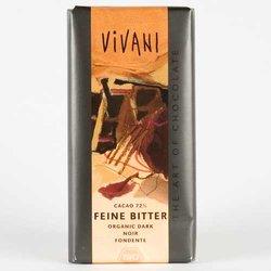 Organic Fine 72% Dark Chocolate 100g