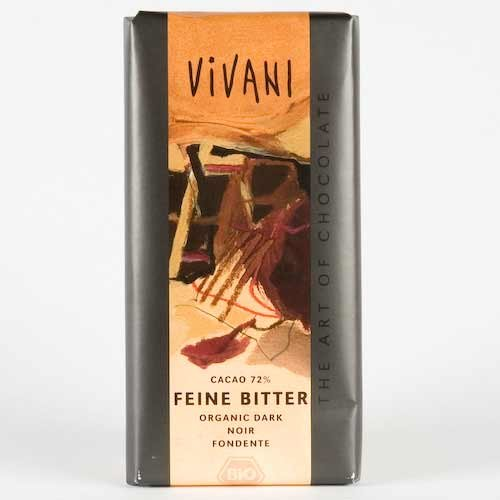 Organic Fine 72% Dark Chocolate 100g