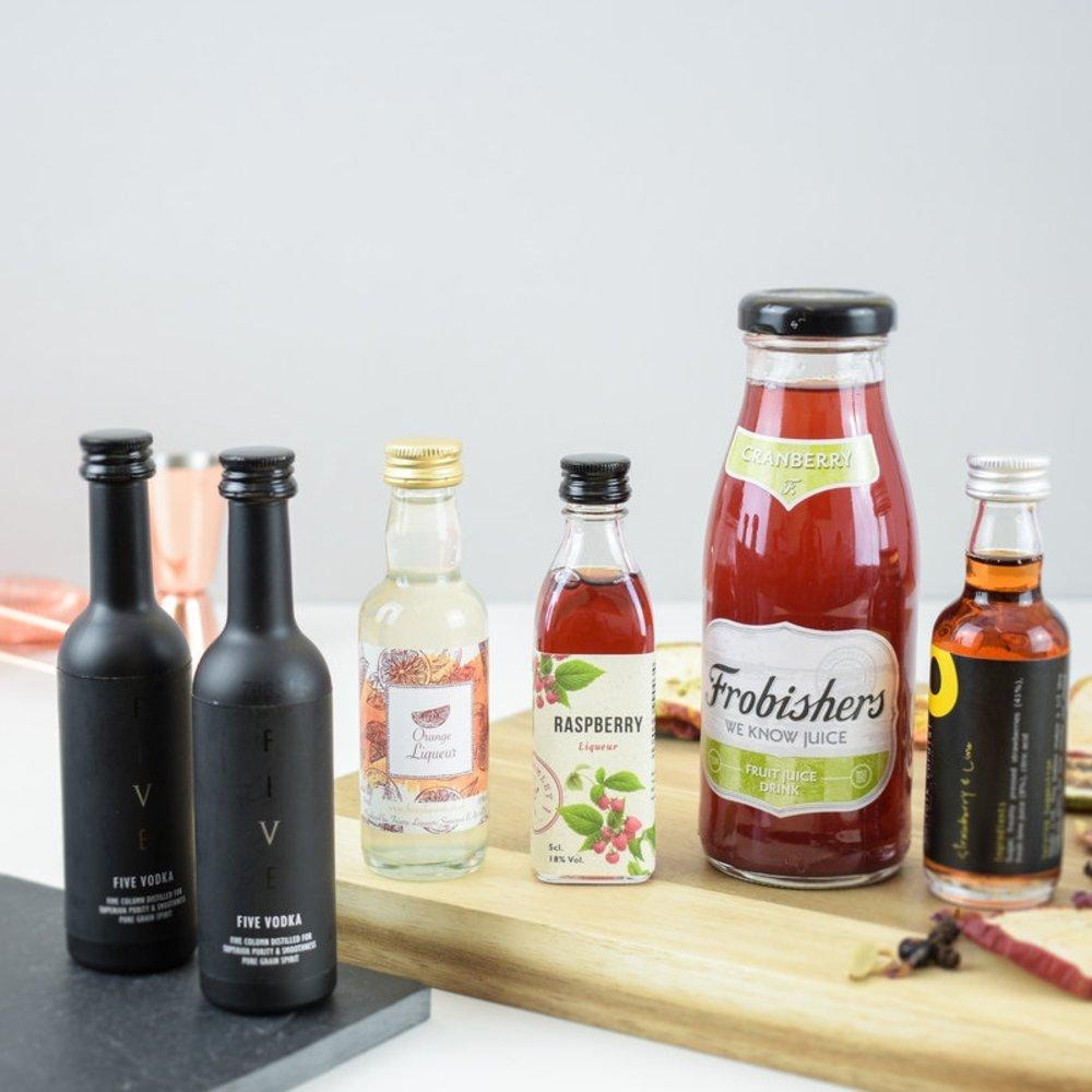 Cosmopolitan Cocktail Gift Set Inc. Vodka, Liqueurs & Syrup