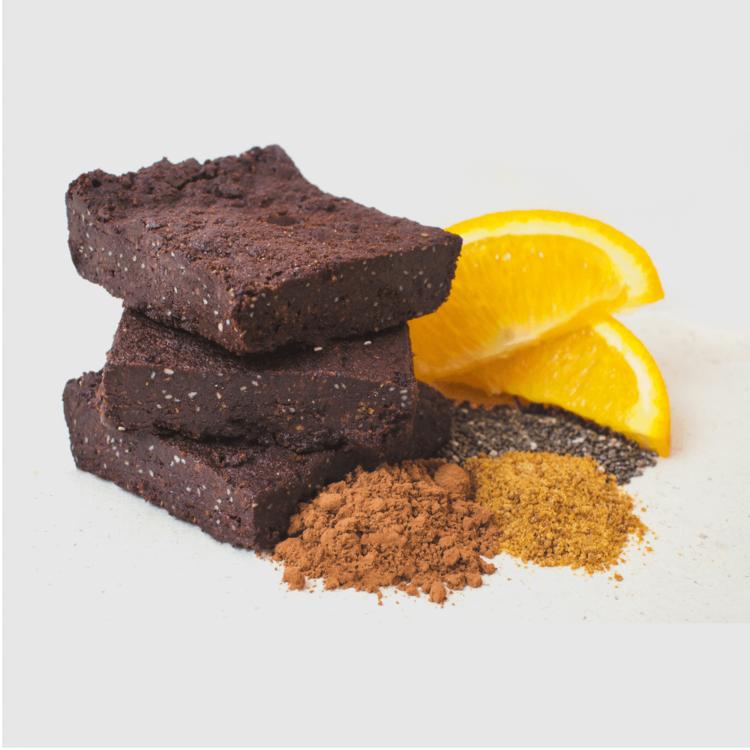 6 x Organic Chocolate & Orange Brownies 65g by Tyler & Hall