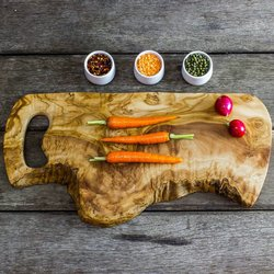 Rustic Olive Wood Chopping/Serving Board (45cm x 25cm x 2cm)