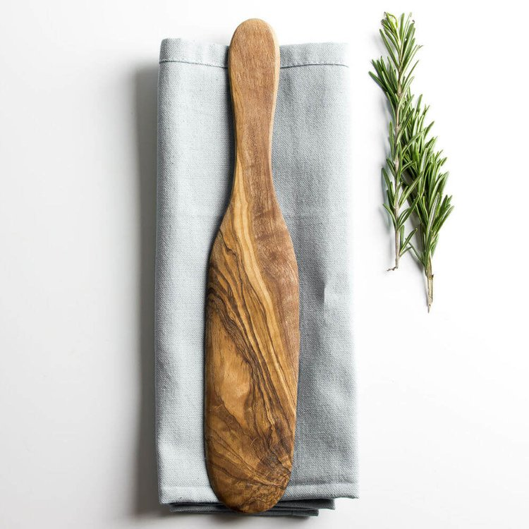 Traditional Olive Wood Pancake/Omelette Spatula (29cm)