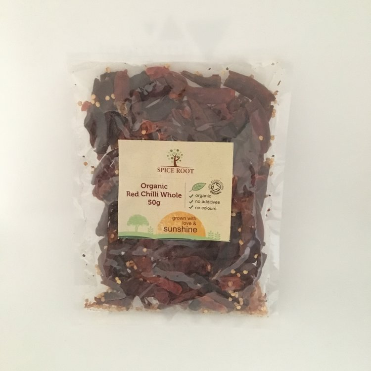 De-stemmed Whole Red Chilli 50g (Organic)